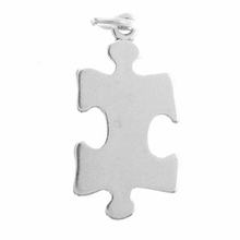 Sterling Silver Puzzle Piece 2 Sterling Silver Charm