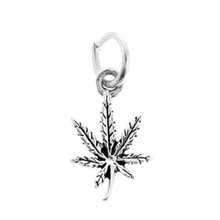 Sterling Silver Hemp Leaf Sterling Silver Charm