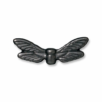 Black Finish Dragonfly Wings Bead