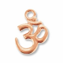 Antique Copper Om Charm