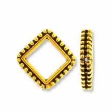 Antique Gold 6mm Beaded Diamond Frame