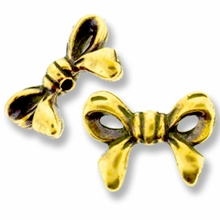Antique Gold Bow Bead