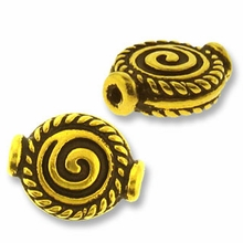 Antique Gold Fancy Spiral Bead