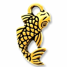 Antique Gold Koi Charm