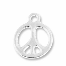 Antique Silver 5/8ö Peace Charm