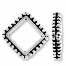 Antique Silver 8mm Beaded Diamond Frame