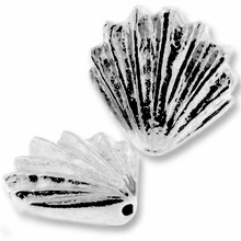 Antique Silver Lg. Shell Bead