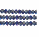 Montana AB 3x4mm Faceted  Crystal  Rondelle Beads 11.8 Inch Strand