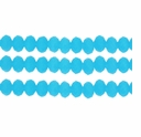 Opaque Milky Aqua 3x4mm Faceted  Crystal  Rondelle Beads 11.8 Inch Strand