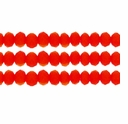 Opaque Orange 3x4mm Faceted  Crystal  Rondelle Beads 11.8 Inch Strand