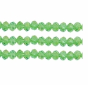 Peridot AB 3x4mm Faceted  Crystal  Rondelle Beads 11.8 Inch Strand