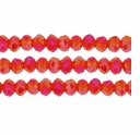 Topaz AB 3x4mm Faceted  Crystal Rondelle Beads 11.8 Inch Strand