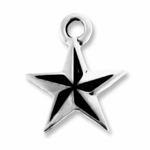 Antique Silver Nautical Star Charm