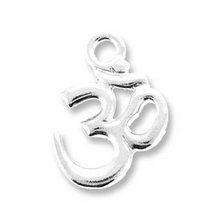 Antique Silver Om Charm