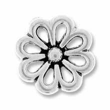 Antique Silver Open Daisy Link