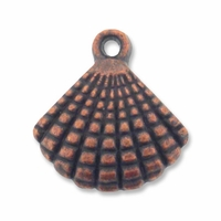 Antiqued Copper Crafted 17mm Shell Charm (1PC)