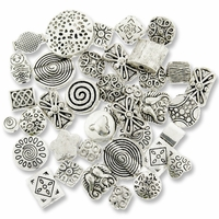 Antiqued Silver Mixed Spacer Beads (10PK)