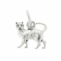 Sterling Silver Small Cat Charm (1PC)
