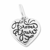 Sterling Silver Forever Yours Charm