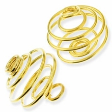 Gold Plated Small Spiral Cages (1PC)