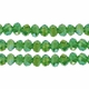 Green AB 3x4mm Faceted  Crystal  Rondelle Beads 11.8 Inch Strand