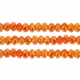 Light  Topaz AB 3x4mm Faceted  Crystal  Rondelle Beads 11.8 Inch Strand