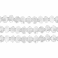 Opal AB 3x4mm Faceted  Crystal  Rondelle Beads 11.8 Inch Strand