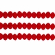 Opaque Red 3x4mm Faceted  Crystal  Rondelle Beads 11.8 Inch Strand