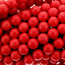8mm Red Coral Round Beads 16 inch Strand