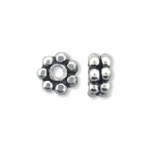 4.5mm Sterling Silver Double  Daisy Spacer Beads (1PC)