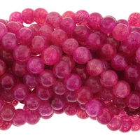 8mm Rose Dragon Vein Agate Round Beads 16 Inch Strand