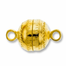 Gold Plated 8mm Magnetic Clasp (1PC)