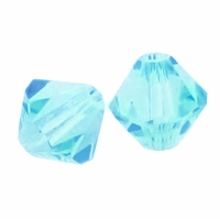 Majestic Crystal® Aquamarine 8mm Faceted Bicone Crystal Beads (12PK)