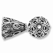 Sterling Silver Filigree Cone (1PC)