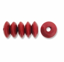 Red 9x5mm Saucer Wood Beads (50PK)