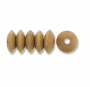 Natural 9x5mm Saucer Wood Beads (50PK)