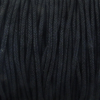 Black 1mm Waxed Cotton Craft Cord (1YD)