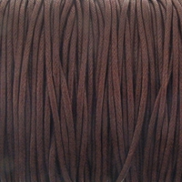 Brown 1mm Waxed Cotton Craft Cord (1YD)