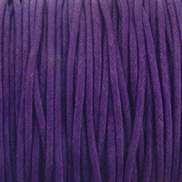 Grape 1mm Waxed Cotton Craft Cord (1YD)