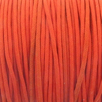 Orange 1mm Waxed Cotton Craft Cord (1YD)