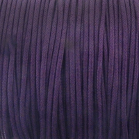 Purple 1mm Waxed Cotton Craft Cord (1YD)
