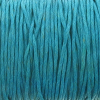 Turquoise 1mm Waxed Cotton Craft Cord (1YD)