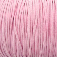 Lt. Pink 1mm Waxed Cotton Craft Cord (1YD)