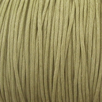 Taupe 1mm Waxed Cotton Craft Cord (1YD)