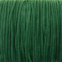Forest Green 1mm Waxed Cotton Craft Cord (1YD)
