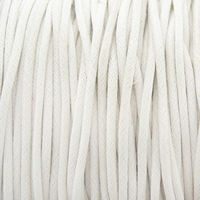 White 1.5mm Waxed Cotton Craft Cord (1YD)