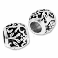 MIOVI™ Silver Plated Large Hole 10mm Garden Design Bead (1PC)