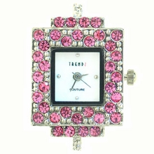 Austrian Crystal Rectangle Rose Watch Face for beading