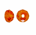 Majestic Crystal� Light  Topaz AB 3x4mm 32-Facet Crystal  Rondelle Beads (50PK)
