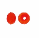 Majestic Crystal� Opaque Orange AB 3x4mm 32-Facet Crystal  Rondelle Beads (50PK)